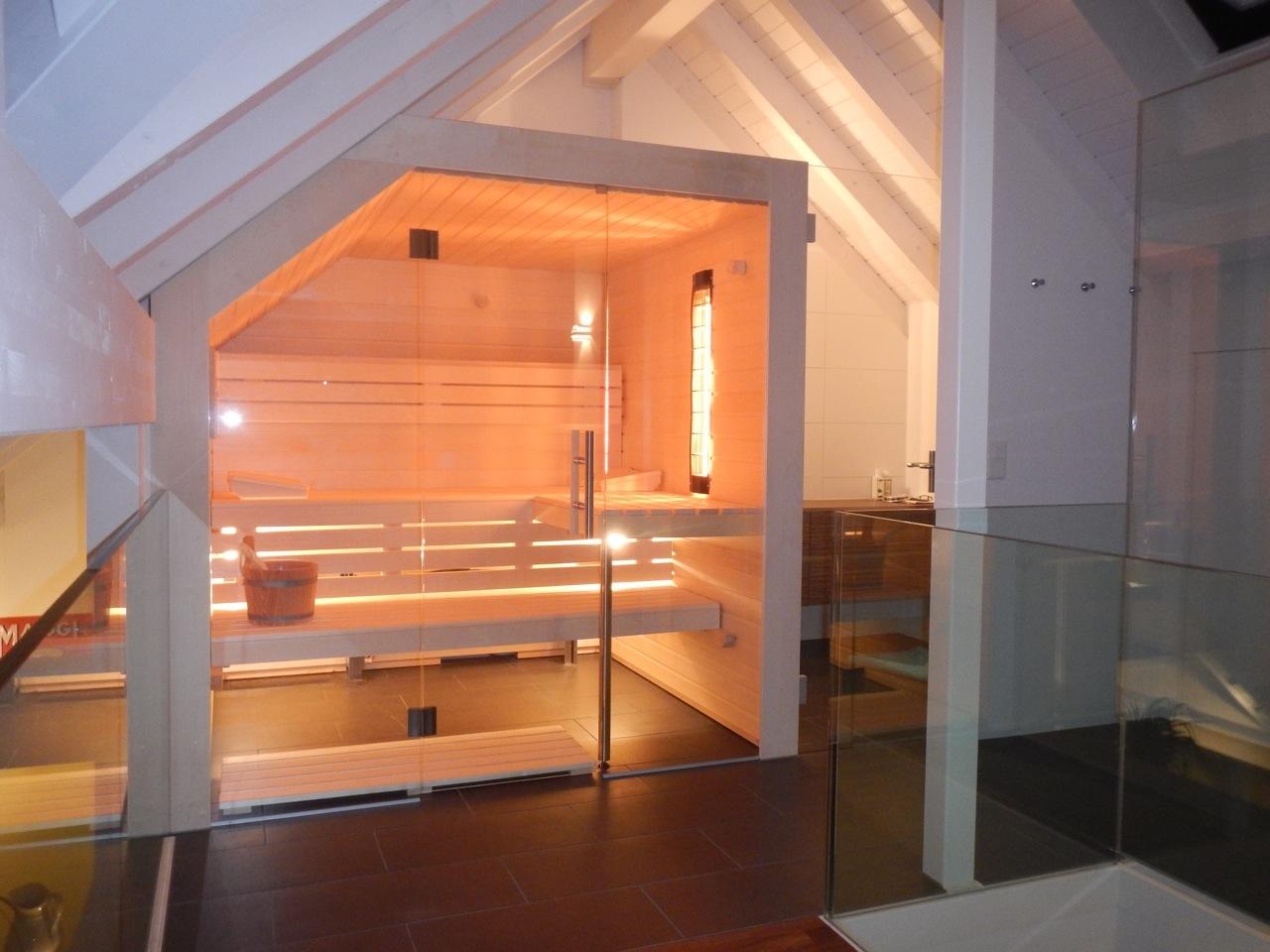 Saunas Mit Dachschräge Von Sanatherm Saunabau